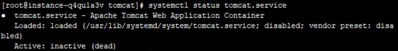 查看tomcat服務狀態